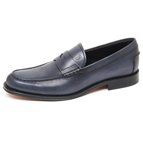 Mocassino Man Vintage BLU Effect Blu Scarpe uomo Grey E7890 Loafer Grigio Shoe Tod's qwCBZdqa