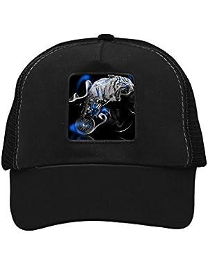 Unisex Smog Tiger Adjustable Classic Hiphop Hat Baseball Cap Snapback Dad Hat