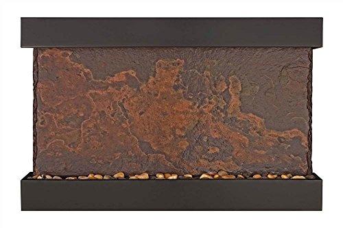 Slate Raja (Lightweight Large Indian Raja Slate Wall Fountain (Black Powder Coat))