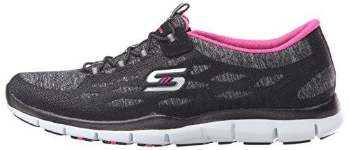 Skechers Deportivo Mujer Gratis Zapatillas de deporte elegante y elegante, punto negro negro, rosa, blanco