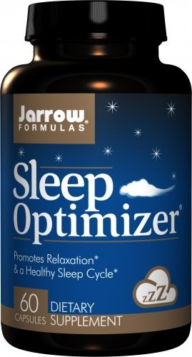 Jarrow Formulas Sleep Optimizer, Promotes Relaxation & a Healthy Sleep Cycle, 60 Caps by Jarrow