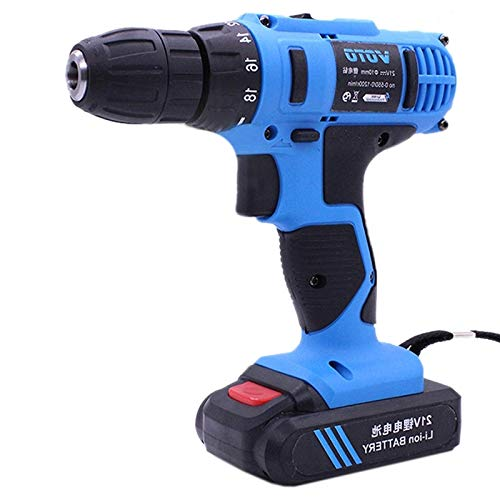Toos Accessory 21V Stepless Speed Regulation Rechargeable Hand Drill Set Electric Drill Power Tools with LED Light, AC 220V, US Plug, Random Color Delivery Hand Tools by MEIHE-Tools Accessory (Image #1)