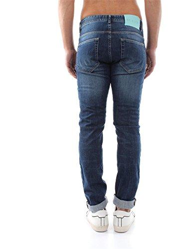 FREDDIEGO f Jeans da uomo stone washed colore blu Blu 32