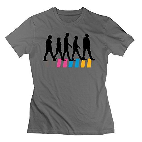 DeepHeather RMVEP Sidewalk Walking Female's O-Neck Short Sleeve T Shirt Size XXL