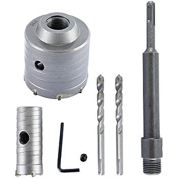 con llave y varilla de 200/mm 65/mm de YaeTek SDS Plus Taladro de sierra de pared para hormig/ón//cemento//piedra