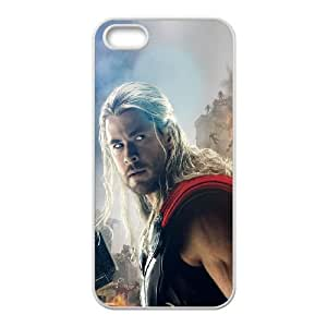 iPhone 5 5s Cell Phone Case White Avengers Age Of Ultron Thor Chris Hemsworth D8T8LC