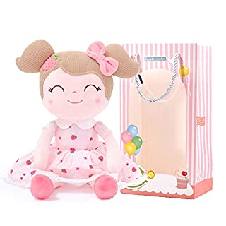 Gloveleya Baby Doll Girl Gifts Cloth Dolls Plush Toy Strawberry 16 Inches with Gift Box