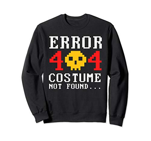 Awesome Geeky Halloween Costume Ideas (Error 404 Costume Not Found Geeky 8 bit Typography Halloween)