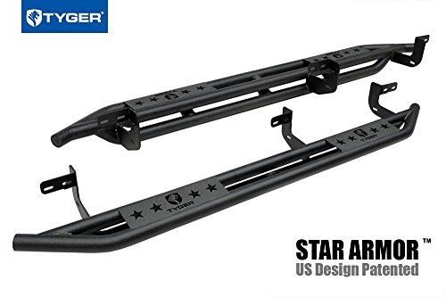 - Tyger Auto TG-AM2D20038 Star Armor Kit for 2009-2018 Dodge Ram 1500 Quad Cab | Textured Black | Side Step | Nerf Bars | Running Boards