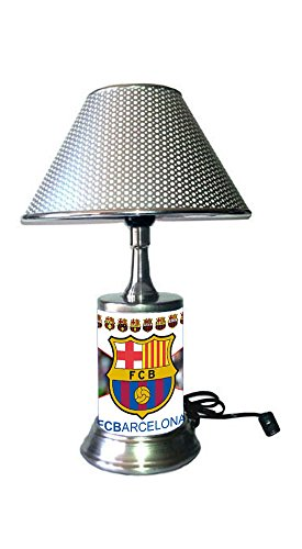 JS FC Barcelona Lamp with chrome shade, Lionel Messi ()