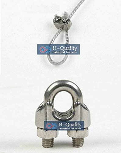 ss304, m2-m24 available Wholesale 100PC//Lot Rigging Hardware M2 AISI316 DIN741 Stainless Steel Wire Rope Clips