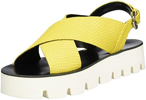 Pollini Zepni, Sandalias de Plataforma para Mujer Amarillo (Yellow)
