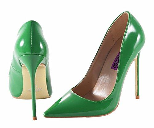 Scarpe A Moda Pompe Abito Pu Tacchi On Verde Slip Donna Profondo Alti Punta Spillo Poco Sexy 7dFqwXF