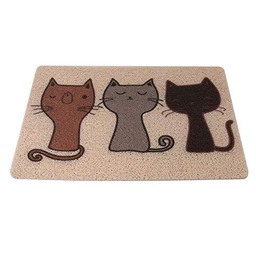 Brown 5040cm Brown 5040cm Pet toilet Cat Litter Pad Cat Foot Pad Cat Litter Mat Cat Toilet Mat Pet Supplies Non-Slip Mat Large Brown 50cm Rectangular Gift (color   Brown, Size   50  40cm)