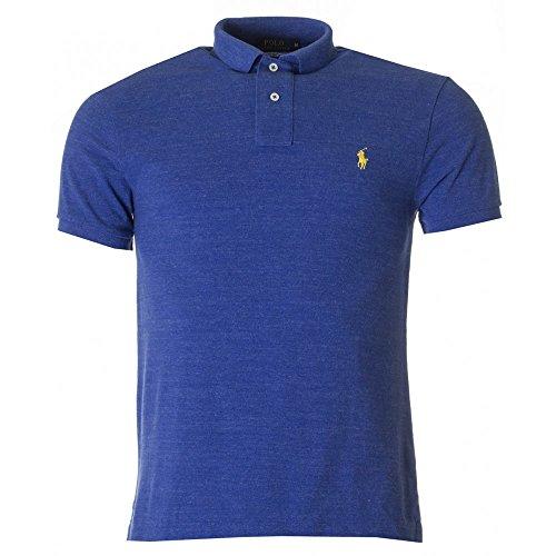Ralph Lauren Herren Poloshirt Gr. Small, Blau - meliert