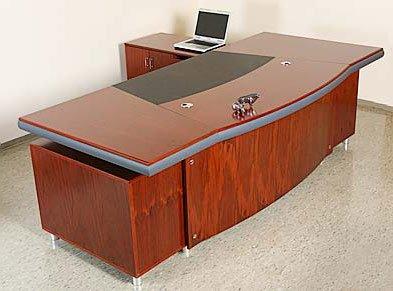 Chef Schreibtisch Buero Buromobel Paris Linksseitig Echtholz