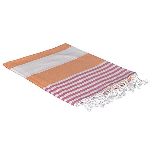 Birchwood Chaput's Boreas Style Turkish Beach Towel, Orange/Pink