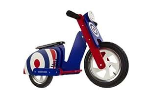 Kiddimoto Scooter - Correpasillos, color multicolor, talla UK: 10-18 Inch