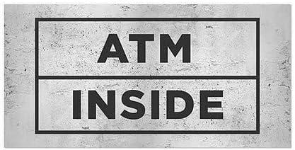 Basic Gray Window Cling CGSignLab 5-Pack 24x12 ATM Inside