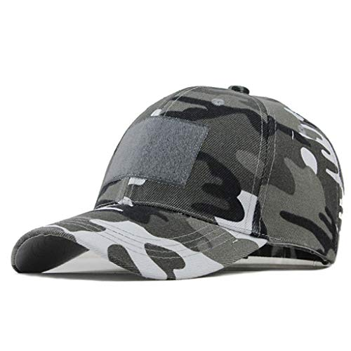 Zlolia Fits Men Women Basic Everyday Military Camo Patchwork Hat Outdoor Washed Dri-Fit Classic Outdoor Baseball Caps