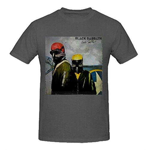 Heeloo Men's Black Sabbath Never Say Die Personalized Big T (Mens Never Die)