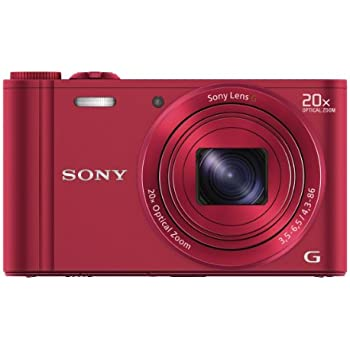 Sony DSC-WX300/R 18 MP Digital Camera with 20x Optical Image Stabilized Zoom and 3-Inch LCD (Red)