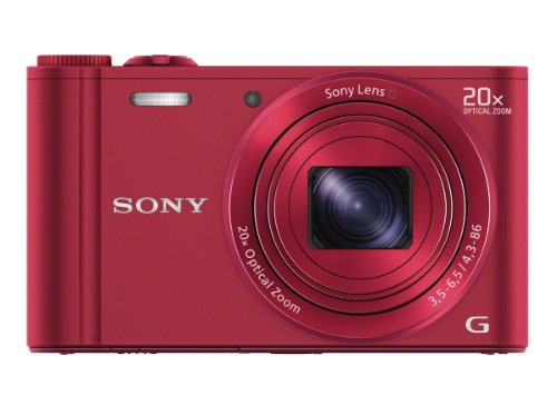 Sony DSC-WX300/R 18 MP Digital Camera with 20x Optical Image Stabilized Zoom and 3-Inch LCD (Red) For Sale