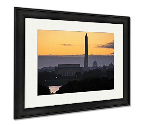 Ashley Framed Prints Washington Dc Skyline, Office/Home/Kitchen Decor, Color, 30x35 (frame size), Black Frame, - Va Alexandria Mall