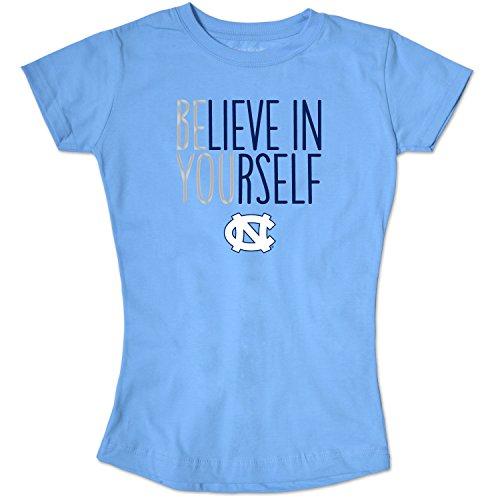 North Tar Carolina Shirt Heels (NCAA North Carolina Tar Heels Girls Short Sleeve Tee, Size 10-12/Medium, Blue Mist)
