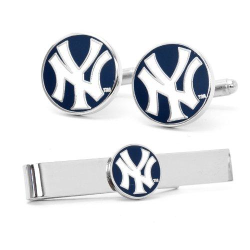 Cufflinks Inc. New York Yankees and Tie Bar Gift Set (New York Yankees Ties)