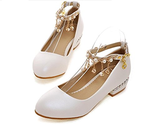 Appartamenti Donna Primavera Estate Autunno Inverno YCMDM Comfort novità PU sintetico similpelle Wedding & Party Ufficio Carriera & Evening , white , us8.5 / eu39 / uk6.5 / cn40