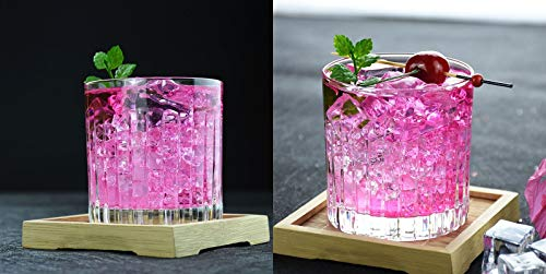 Double Old Fashioned Crystal Glasses, Set of 6, Perfect for serving scotch, whiskey or mixed drinks. (New York) pattern by Le'raze (Image #2)