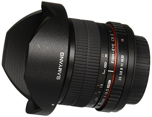 Samyang SYHD8M-S 8mm f/3.5 HD Lens with Removable Hood for Sony Alpha