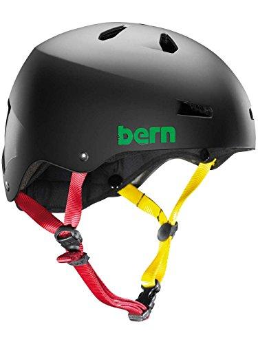 Bern Skate Helmet Macon EPS Summer Matte Black Rasta - Large