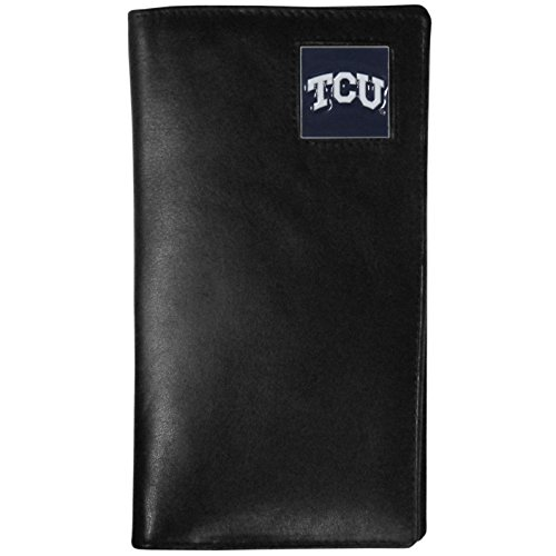 NCAA TCU Horned Frogs Tall Leather Wallet (Tall Frog)