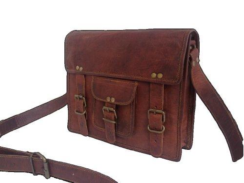 "True Grit Leather-Custodia in pelle per Laptop da 15 ""- Borsa Messenger"