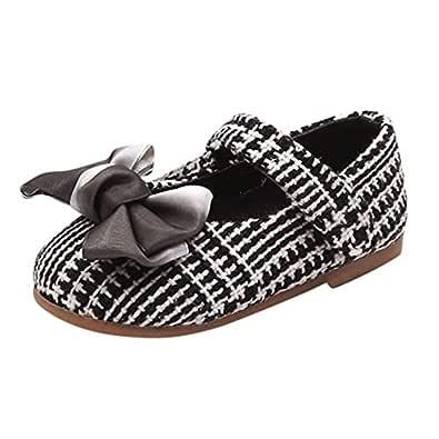 Mitlfuny Niñas Bebe Zapatos de Lona para Bebé Goma Suela ...
