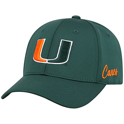 (Top of the World Miami Hurricanes Phenom Memory Fit 1Fit Hat)