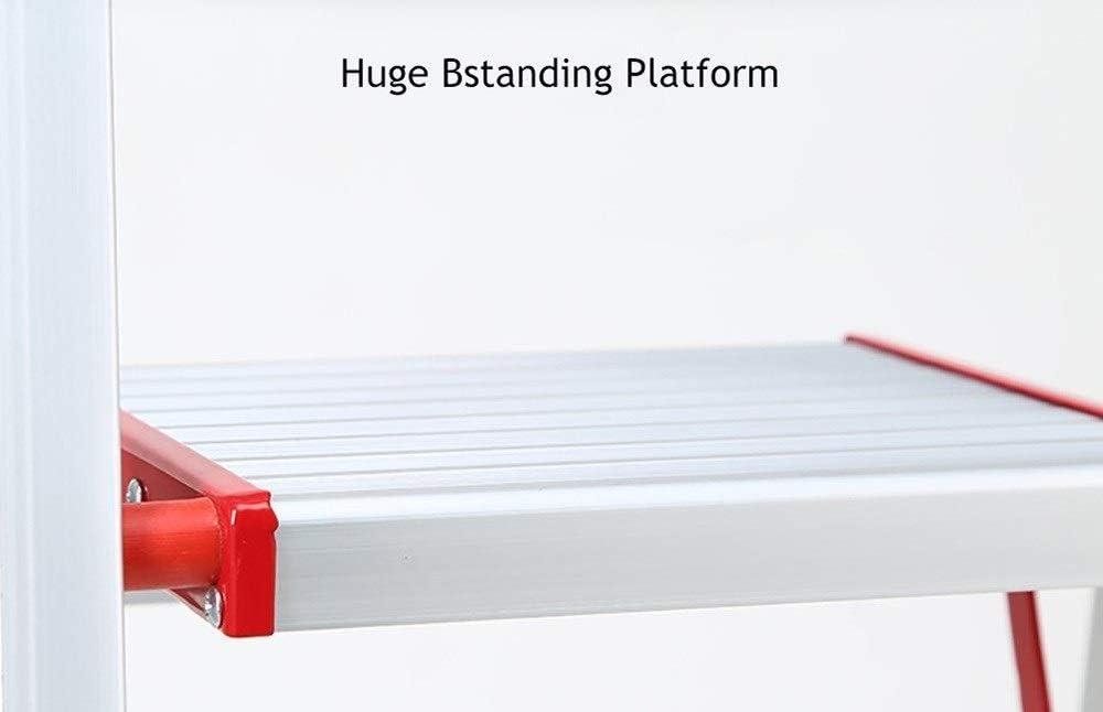 ahorra espacio Escalera de acero port/átil de una cara para uso dom/éstico Escalera de cocina Escalera ascendente antideslizante TLTLTD Escaleras de mano de 3 pelda/ños