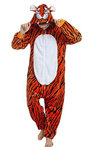 Tri-Better Adult Onesie New Tiger Pajamas Hooded Kigurumi Unisex Cosplay Costumes (M)