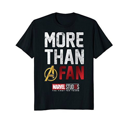 Marvel Studios Ten Years More Than A Fan Graphic T-Shirt