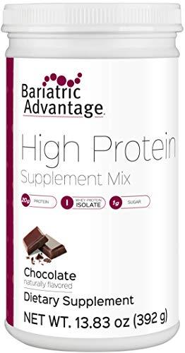 Bariatric Advantage HIGH Protein Supplement Mix, 20 G of Protein Whey Protein Isolate, Chocolate Flavor, 100 Calories, 1 g Sugar, Gluten-Free