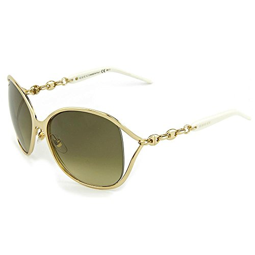 Gucci Womens Chain Temple Cut Out Sunglasses GG 4250/S