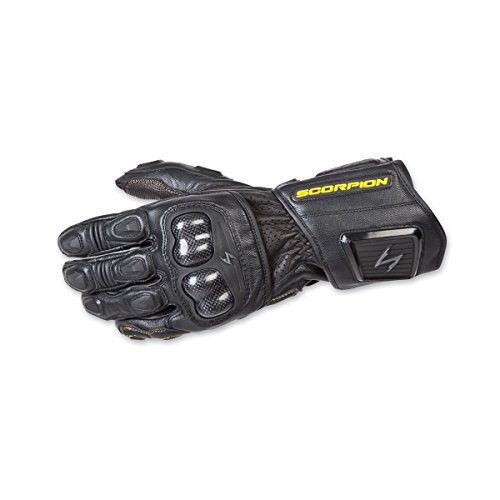 ScorpionExo SG3 MKII Men's Long Gauntlet Sport Gloves (Black, Large)