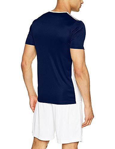 dark white shirt 18 Adidas Entrada Uomo T Blu Blue vavHUq7