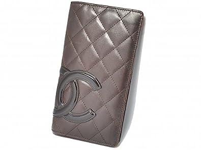 0ecf6abfe24a Amazon | [シャネル] CHANEL カンボンライン 2つ折長財布 茶色 ブラウン × オレンジ A26717 [中古] | CHANEL( シャネル) | 財布