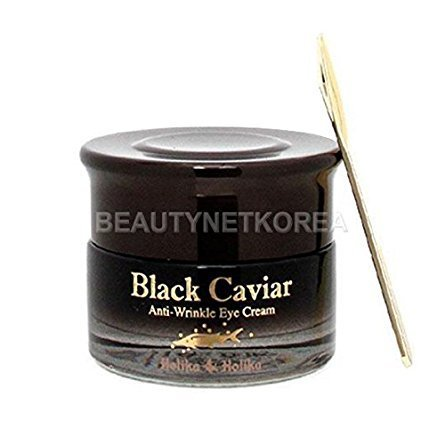 ([HOLIKA HOLIKA] Black Caviar Anti-Wrinkle Eye Cream 30ml / Caviar extract)