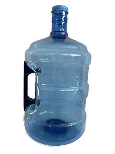 AquaNation - 3 Gallon BPA FREE FDA Approved Food Grade PET Plastic Reusable Water Bottle Container Jug Canteen Container with Easy Grip Handle (Made in USA) (5 Gallon Canteen)