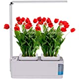 Hoctor Indoor Herb Garden w/LED Grow Light   Hydroponics Growing System for Plants, Flowers, Fruits, Vegetables, Succulents   Hands-Free Home Kitchen Gardening