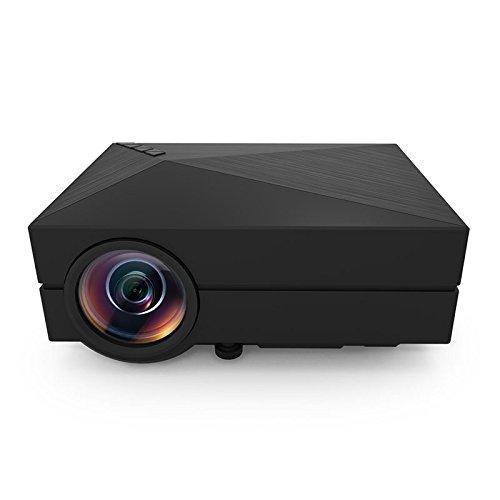 PowerLead Gypo GM60 HDMI Portable Mini LED Projector Home Cinema Theater Entertainment AV VGA USB SD Micro USB Meetings Projector (Black) by PowerLead
